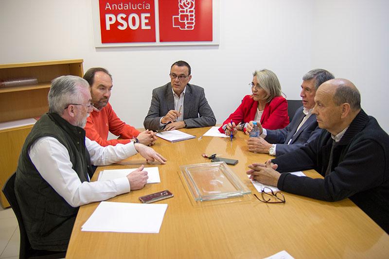 La Plataforma traslada al PSOE provincial la importancia de dar seguridad al suministro de agua en Huelva